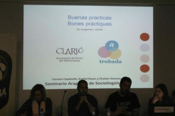 Clarió y Trobada: Buenas practicas en aragonés y catalán